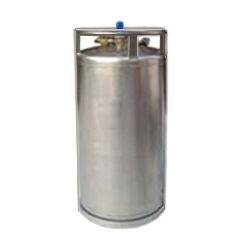 Vertical cryogenic liquid cylinder